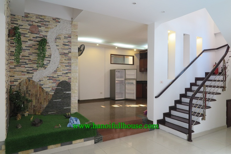 Beautiful house with nice decoration and big yard, 4 bedrooms in Tay Ho for rent