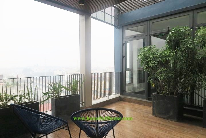 Brand new 2 bedroom apartment for rent, large balcony in Au Co - Tay Ho street