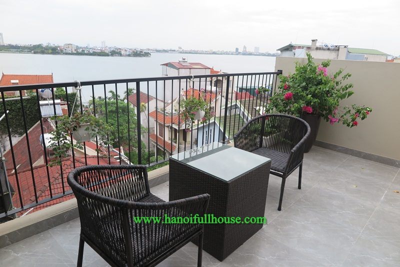 Luxury apartment with lake view, sauna room, good furniture in Tay Ho for rent