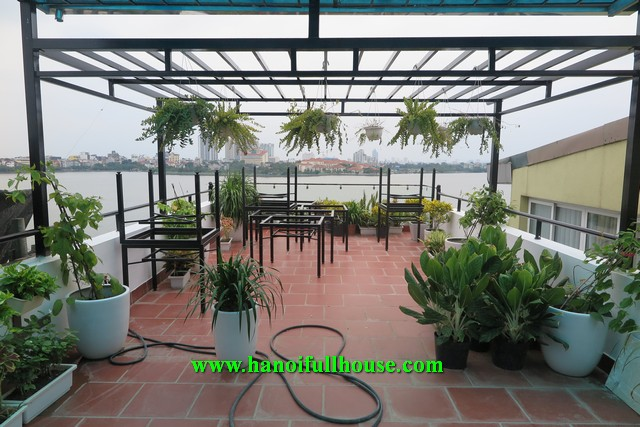 Charming 2 bedroom apartment in Tay Ho with an amazing terrace for rent.