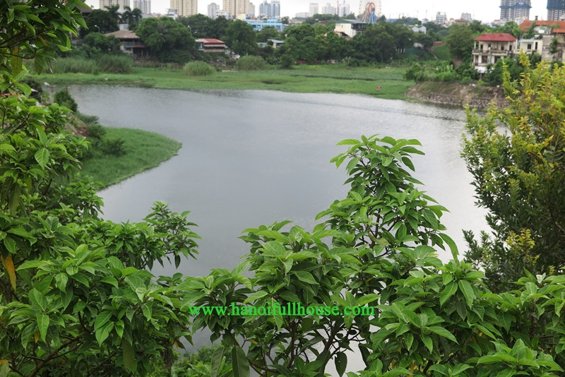 Hanoi housing with 04 bedrooms, Lake View, small Garden in Tay Ho district