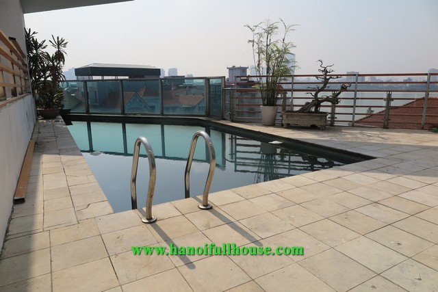 Unique villa on Dang Thai Mai street has a nice swimming pool on the top with amazing view.