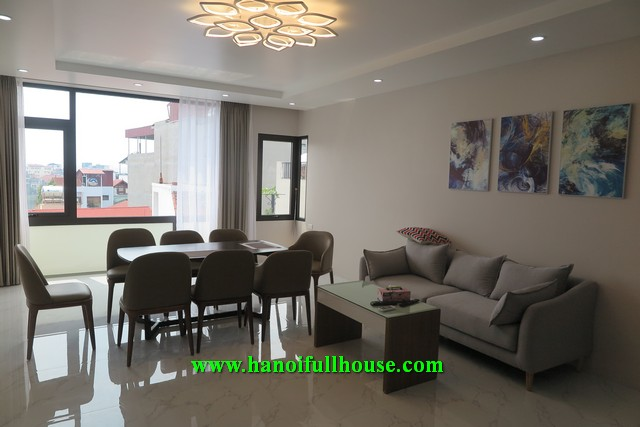 Wonderful apartment on Xuan Dieu street, big size, imported furniture, balcony, terrace.