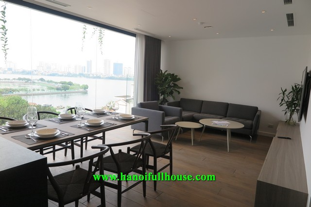 Super luxurious apartment on To Ngoc Van street, 2 bedrooms, lake view for rent