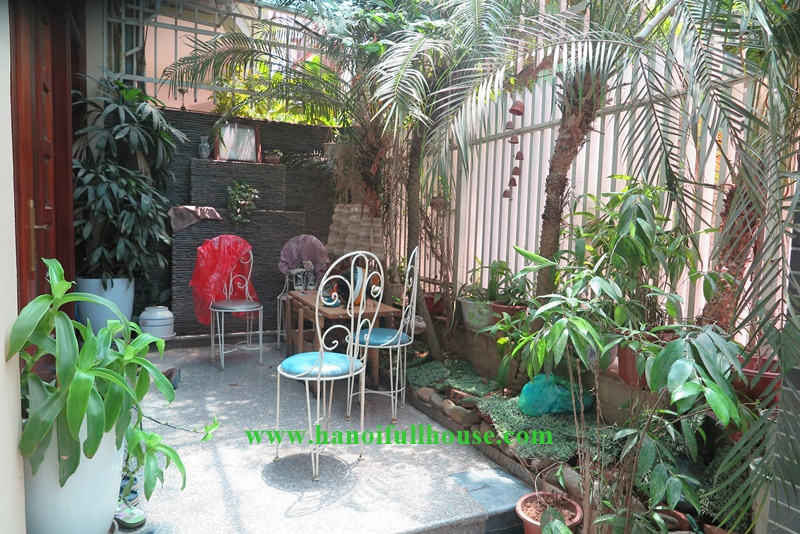 Hanoi housing with 06 bedrooms, garage, small garden in Tay Ho for rent