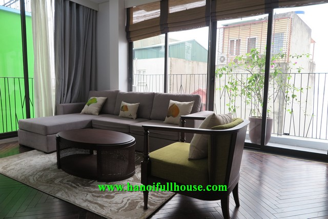 Serviced apartment for rent with 2 bedrooms full furnished and services on Dang Thai Mai street, Tay Ho, Hanoi