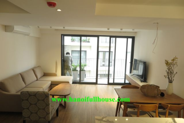 Duplex 2 bedrooms apartment in Tay Ho with very nice decor, modern and new