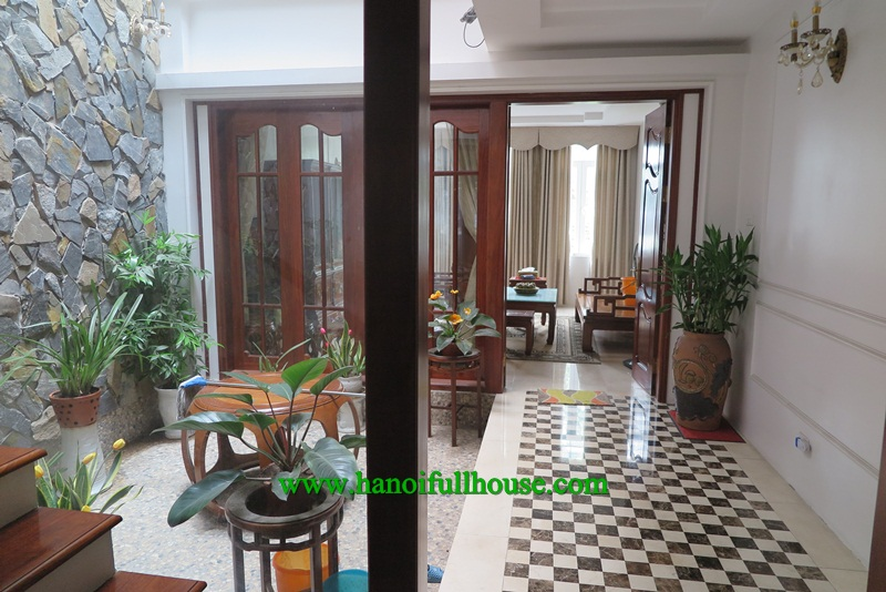 Great house in Dang Thai Mai, Tay Ho with 4 bedrooms, elevator, garage for lease