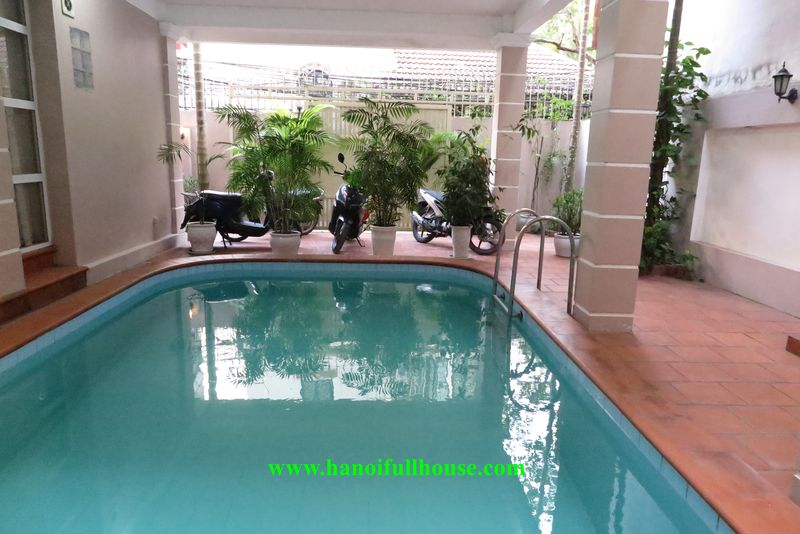 House with the pool in Tay Ho for lease - reasonable price