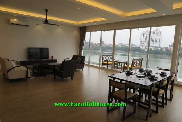 Luxury apartment on Quang An street, 3 bedrooms, good quality furniture and equiment for rent.