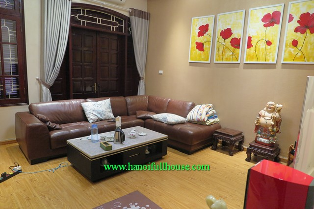 A modern five bedroom house in Ba Dinh- Ha Noi to rent