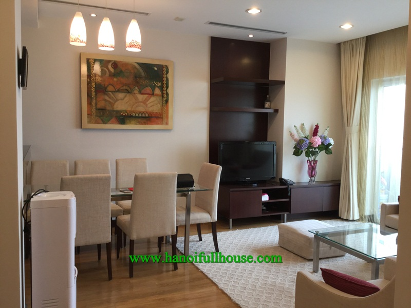 Great apartment in Hoa Binh Green Apartment building, two bedrooms, nice decor for rent.