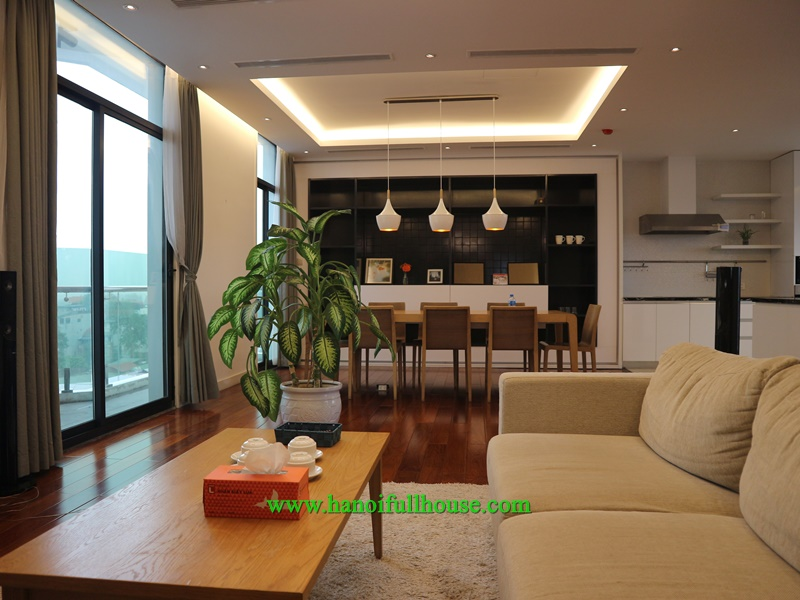 Luxury duplex apartment, bright interior next to Old Quarter for foreigners to rent
