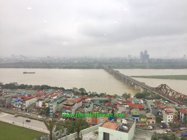Wonderful view of Red River three bedroom apartment in Mipec Riverside tower