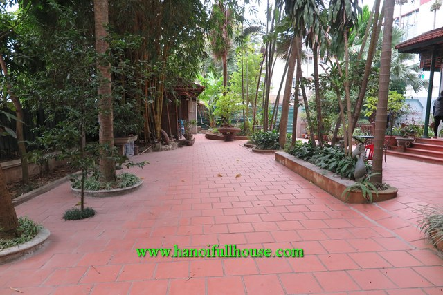 Beautiful and huge villa with a big garden, swimming pool in Tay Ho for rent