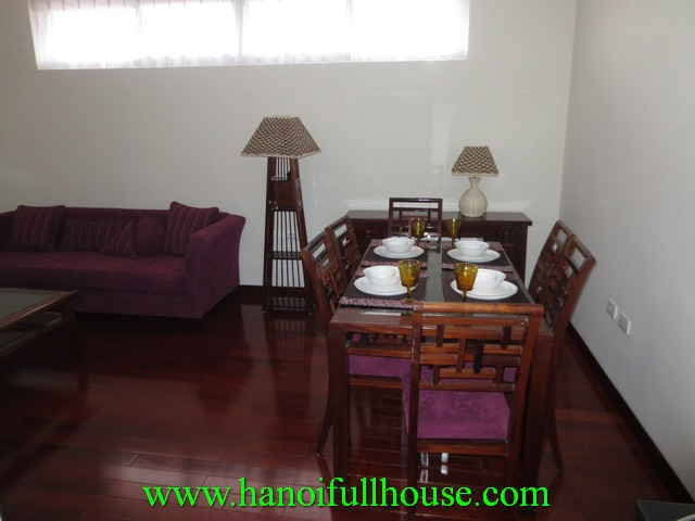One bedroom beautiful serviced apartment for rent near Truc Bach Lake, Ba Dinh dist, Hanoi