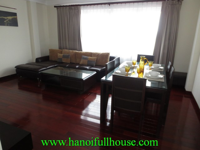 Rental 2 bedroom serviced apartment nearby Truc Bach lake, Ba Dinh dist, Hanoi, Vietnam