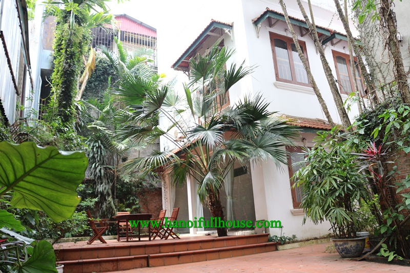 Beautiful house near West Lake with 4 bedrooms, garden and car parking for rent