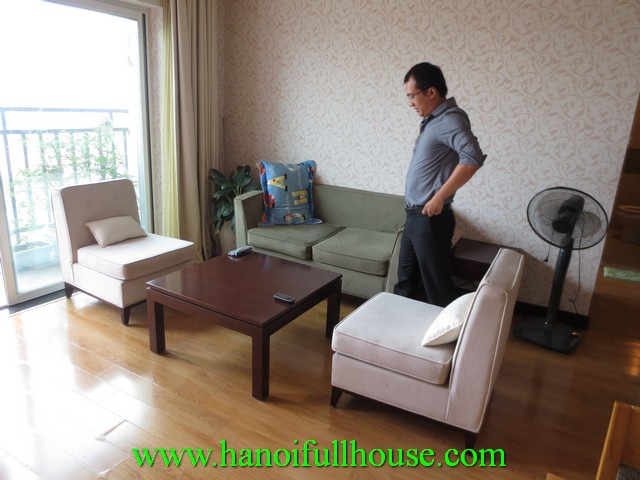 Beautiful apartment with 2 bedrooms for rent in Hoa Binh Green, Duong Buoi street, Ba Dinh dist, Hanoi