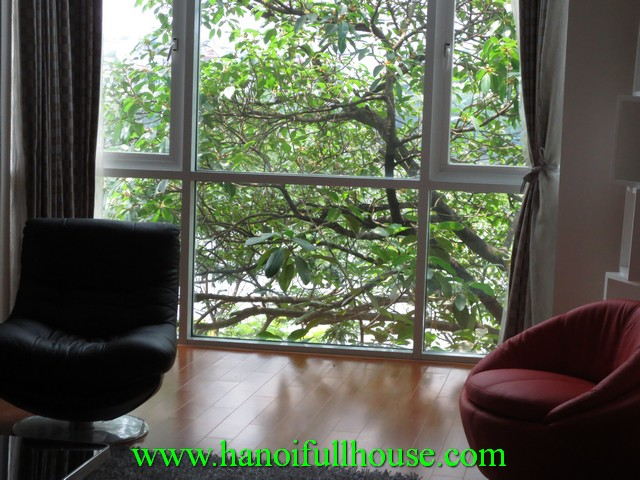Beautiful duplex serviced apartment for rent in Truc Bach Lake, Ba Dinh dist, Hanoi