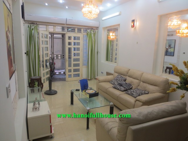 Rental 4 bedroom house with full modern furniture in Cau Giay dist, Ha Noi