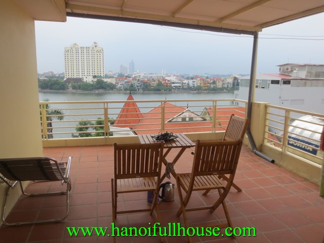 Cheap serviced apartment for rent in Xuan Dieu street, Tay Ho dist, Ha Noi