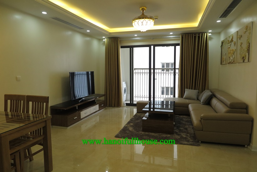 Lake view ,3 bedrooms, fully furnished apartment in Tan Hoang Minh Building, Hoang Cau street