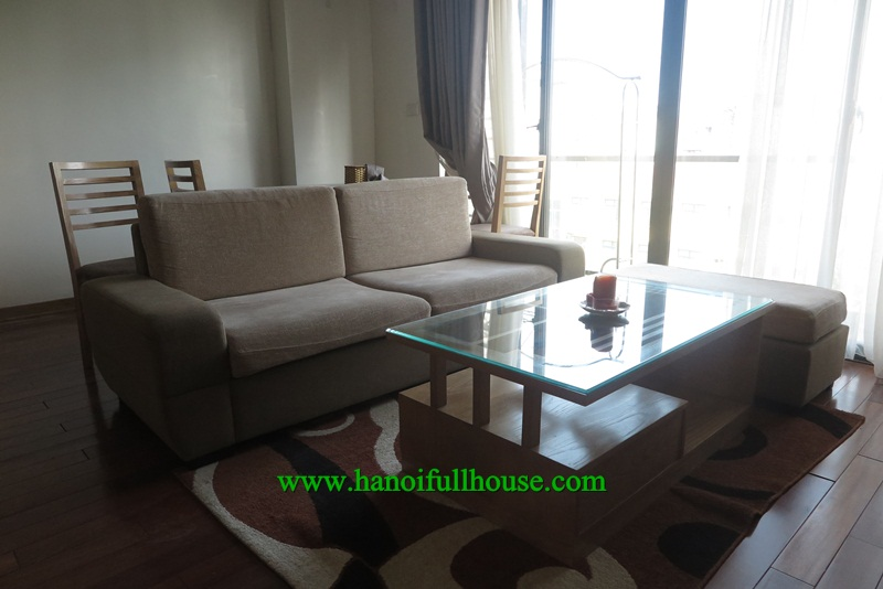 Lovely apartment in Truc Bach area, lake view, professional service for rent.