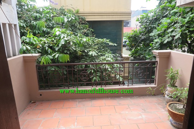House in Hoan Kiem, Ha Noi for rent. Three bedroom, furnished, terrace, quiet