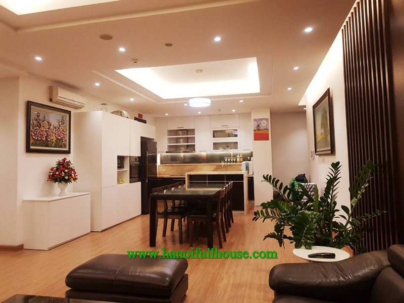 Luxurious apartment in Dolphin Plaza building, Tran Binh street, furnished and quality equipped.