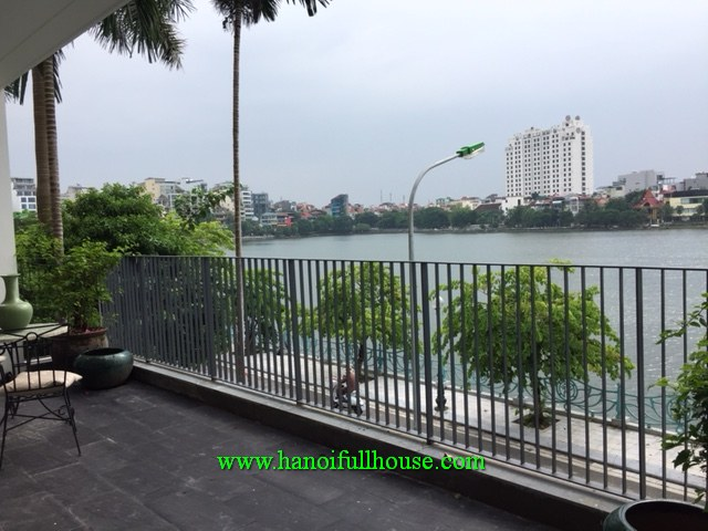 Brandnew two-bedroom serviced apartment facing to Westlake on Quang An str for lease