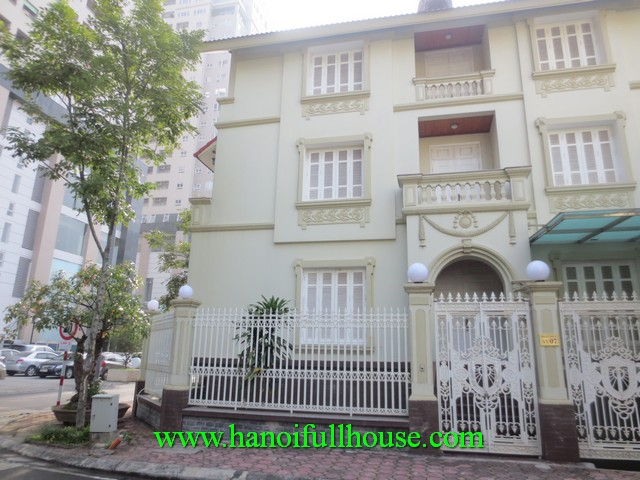 New villa with 5 bedroom, a garage, a terrace for rent in Thanh Xuan dist, Ha Noi
