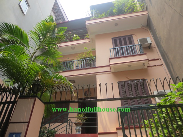 Cheap price, 4br house to lease in Ba Dinh, Hanoi with nice terrace