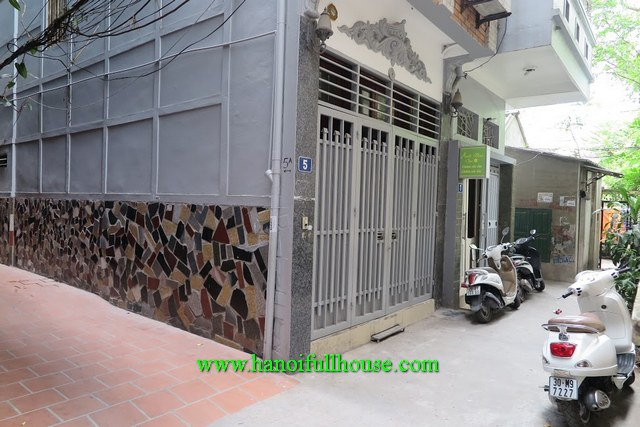 Nice house with 4 bedrooms, fully furnished on Doi Can str, Ba Dinh dist for rent