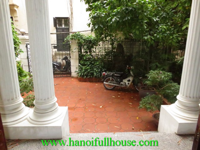 Courtyard beautiful house with 5 bedrooms for rent in To Ngoc Van street, Tay Ho dist, Ha Noi