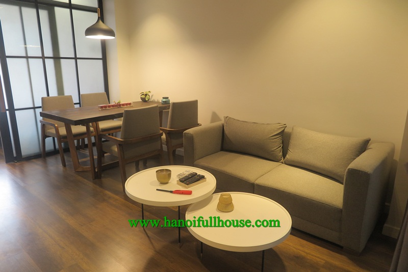 Brand new, modern, furnished apartment, 1 bedroom, wooden floor for rent.
