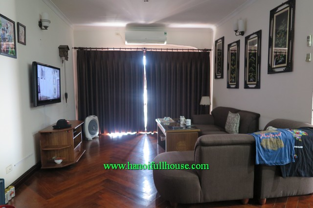Nice hardwood floor apartment 03 bedroom, newly furnished in Huynh Thuc Khang street, Dong Da dist