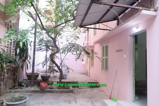 Ba Dinh Housing- two bedroom house with big yard and garden, cheap rental