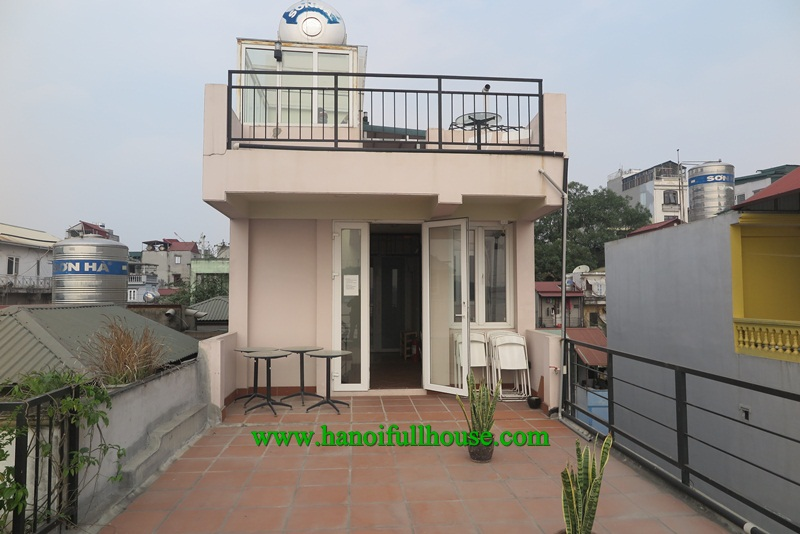 Amazing apartment in Lang Yen Phu street, big balcony, great terrace for rent.