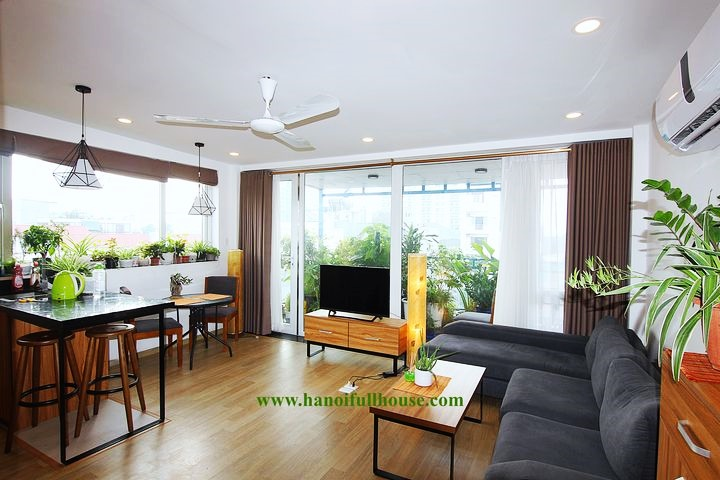 2 bedrooms apartment on high floor with big private terrace