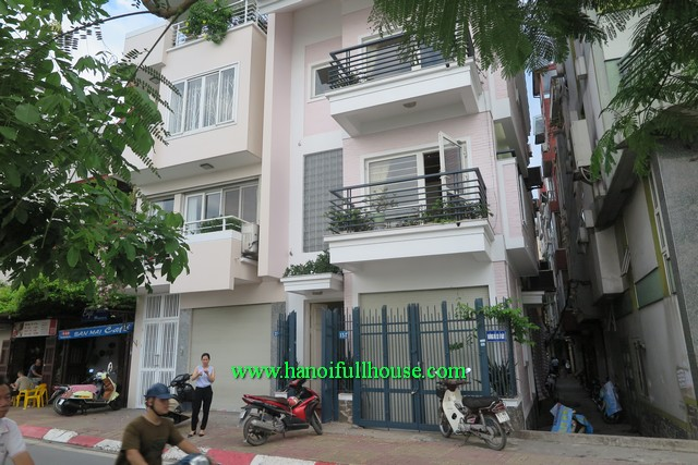 Lake view house with fully furnished, balcony and three bedroom for lease in Tay Ho
