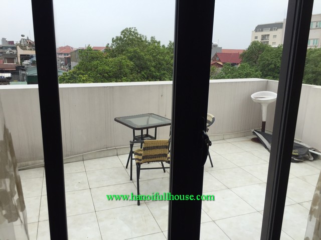 Large balcony 1-bedroom apartment near Old Quarter-Hanoi for lease