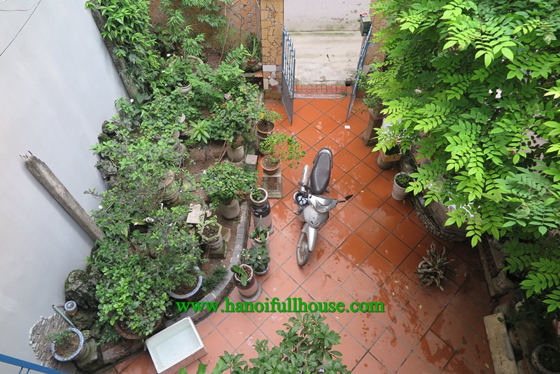 Great house with yard and terrace on Tu Hoa street, French style for rent.