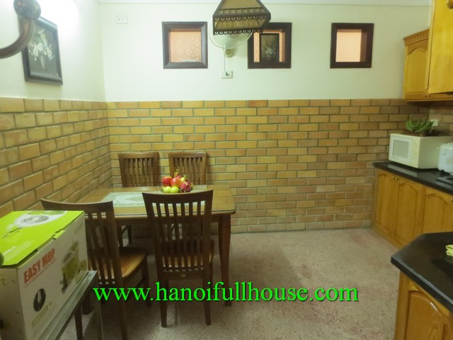 2 bedroom house for rent in Ba Dinh dist, Ha Noi. A Courtyard, nice terrace, balcony