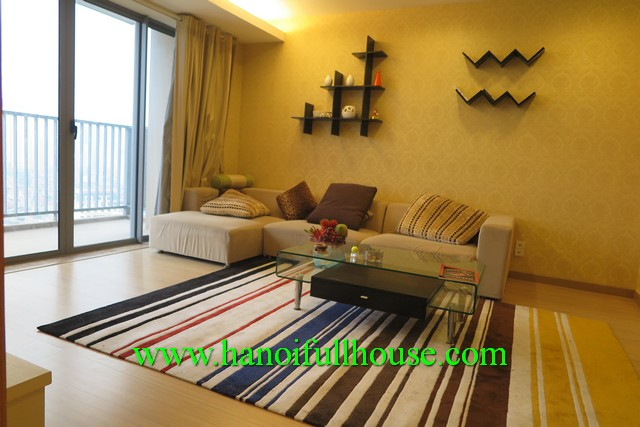 Skycity Tower Hanoi, 2 bedroom, 2 bathroom, fully furnished, high floor, balcony and bright