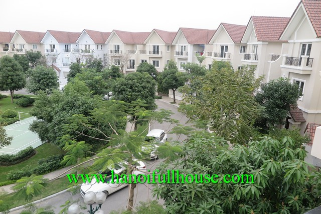 Villa in Vincom village for rent. New villa at Hoa Sua way, lake view, park view and bright