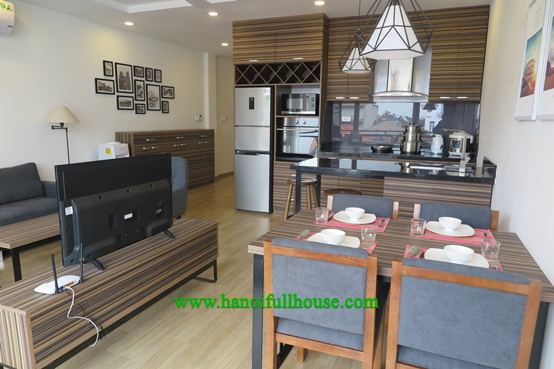 Luxury apartment, 2 bedrooms, big balcony at Dang Thai Mai for rent