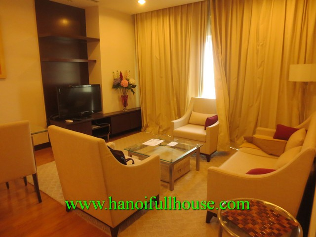 Hoa Binh green luxury apartment for rent in Hanoi