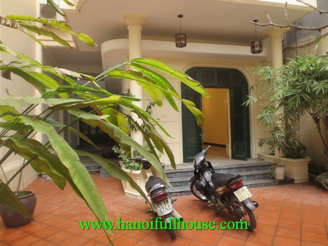 French villa for staying, office, spa in Ba Dinh dist for rent