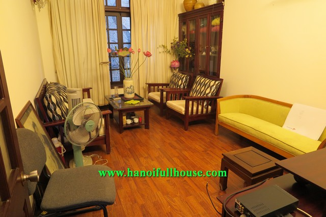 Hanoi center- 4 bedroom house with full furniture, quiet area and convenient